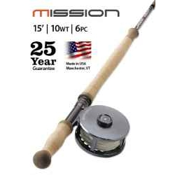 MISSION TWO-HANDED, 10-WEIGHT 15' FLY ROD